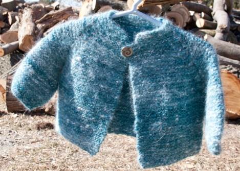 Top Down Garter Stitch Baby Jacket Free Knitting Pattern