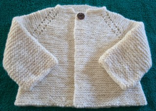 Free Pattern for Top Down Garter Stitch Baby Jacket