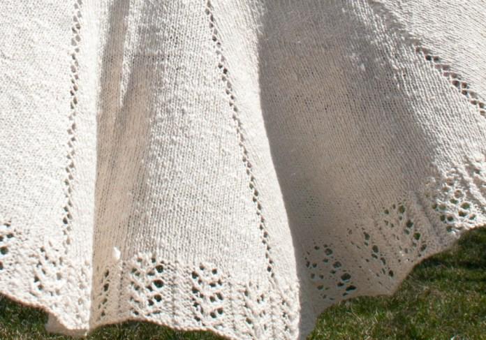 Handspun Handknit Lace Cotton Silk Shawl