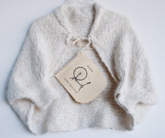 hand knit baby shrug