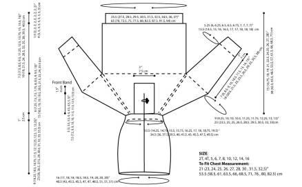 Top-Down-Hoodie schematics