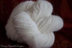 Angora handspun lace weight-9714