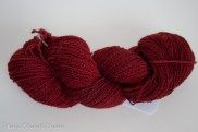 NZ Merino handspun lace Garnet-9703