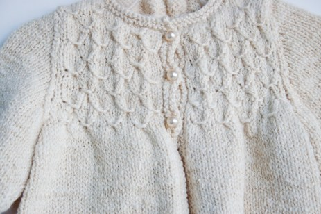 hand knit baby sweater-8649