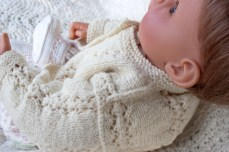 hand knit baby sweater-8737