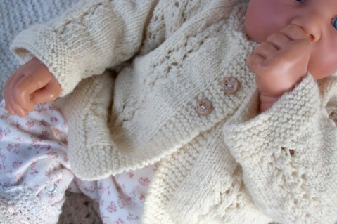 hand knit baby sweater-8745