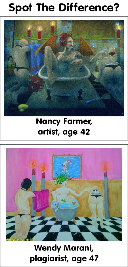 Painting by Nancy Farmer, plagiarism by Wendy Marani 3