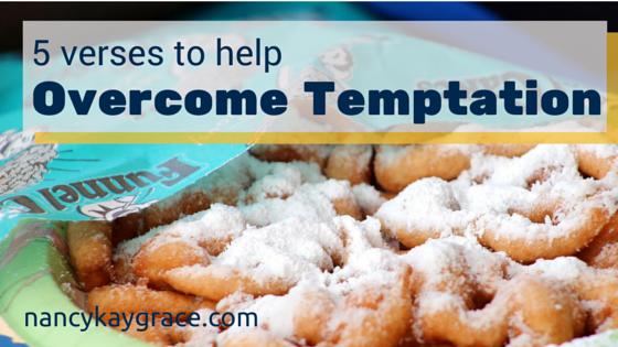 Overcome Temptation funnel cake