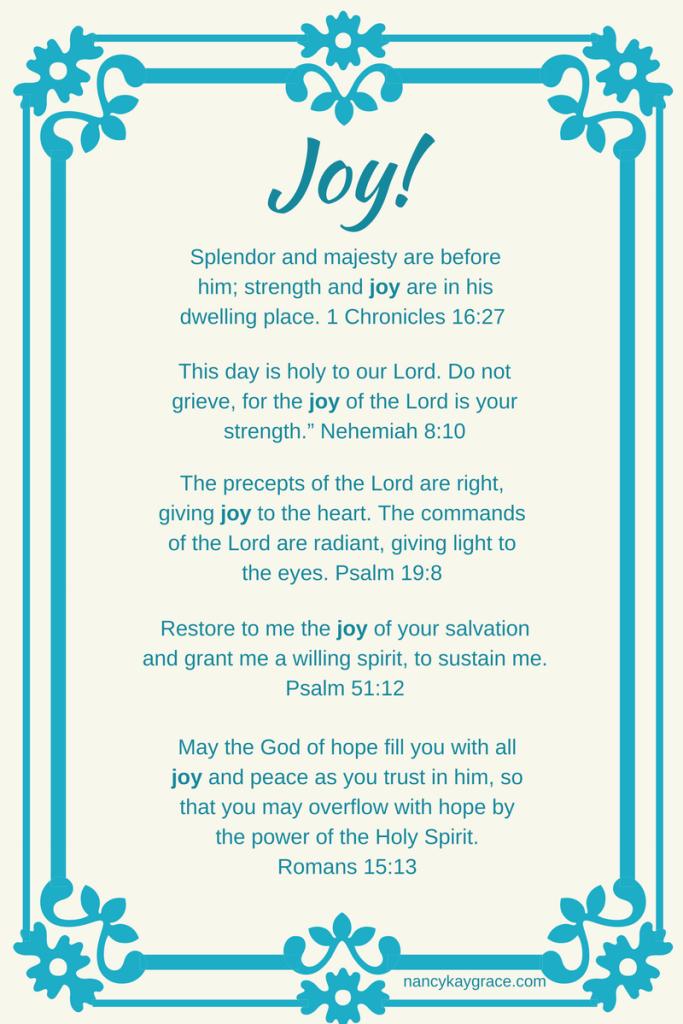 Joy Bible verses