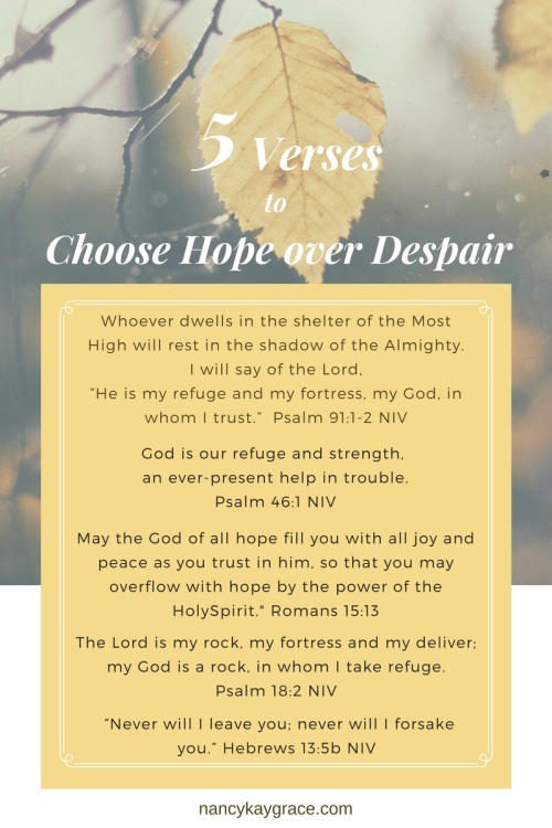 5 Verses to Choose Hope over Despair