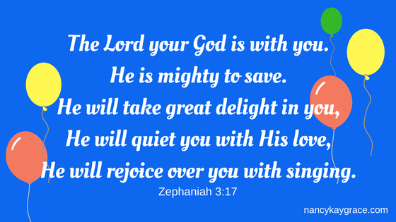 The Lord delights in you Zeph 3:17