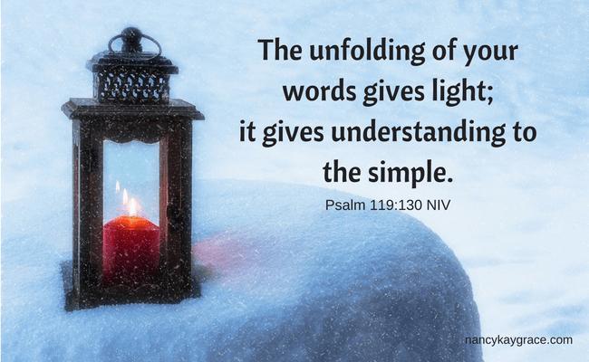 Psalm 119_130 reflection