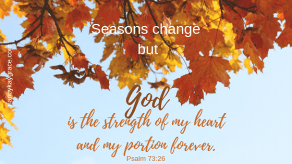 God is the strength of my heart. Perspective.