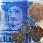 geld maakt gelukkig tientje gulden kwartje dubbeltje