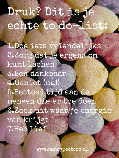 Druk? Dit is je echte to do-list