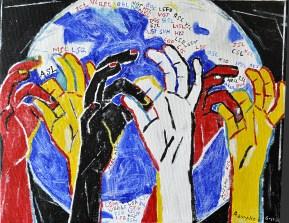 Nancy Rourke Paintings — Deaf Culture: Unity of Global Signing