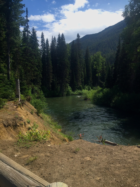 View from our campground in the Northern Cascades
