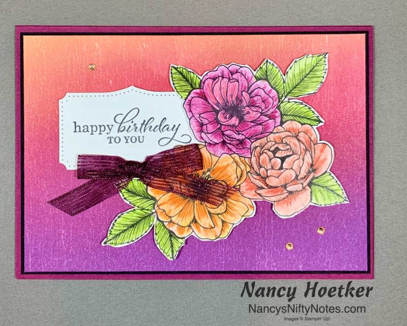 Stampin' Up! Artistry Blooms with True Love Card 1