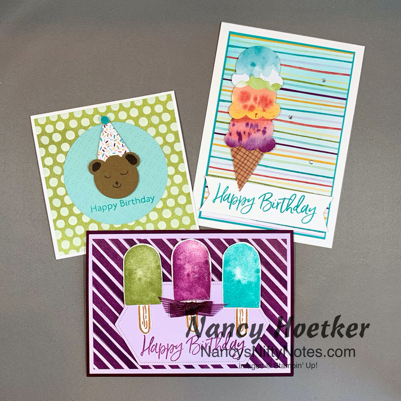 Stampin' Up! Ice Cream Corner Suite First Look Projects