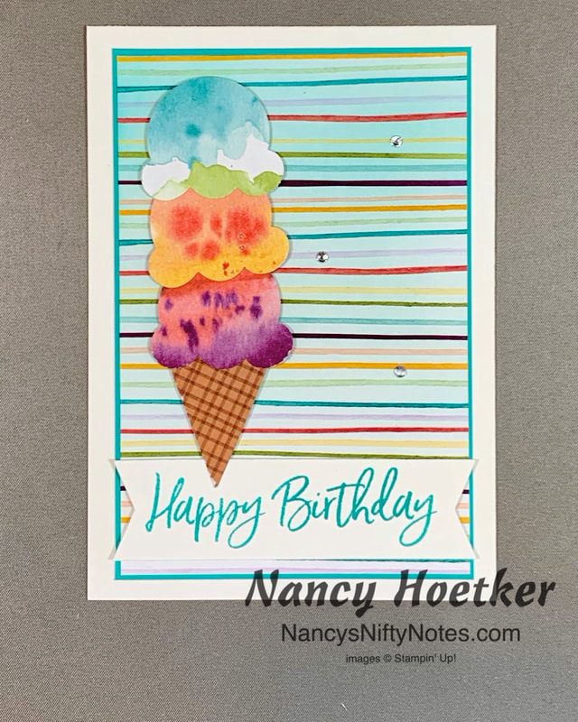 Stampin' Up! Ice Cream Corner Suite Stacked Cone Card