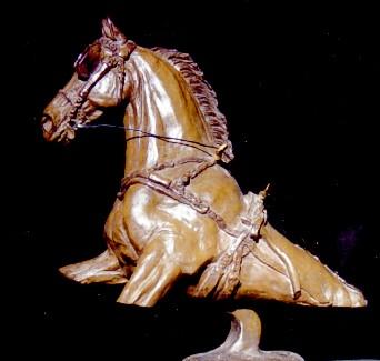 Driving Bust Bronze Sculpture - Nancy Weimer Belden