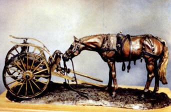 Bronze Horse And Sulky - Nancy Weimer Belden