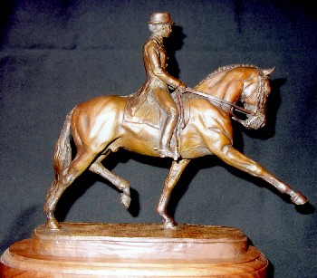 Dressage Rider Bronze Sculpture - Nancy Weimer Belden