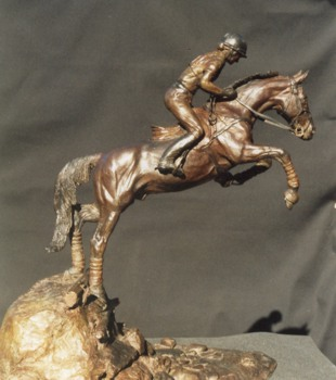 Eventing Horse Bronze Sculpture - Nancy Weimer Belden