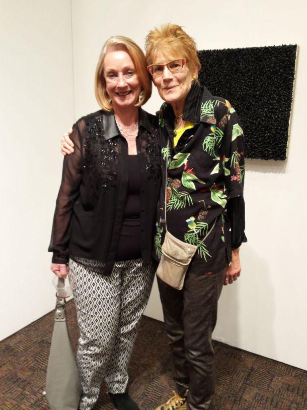 Chief Curator Katherine Hough and Nancy Worthington