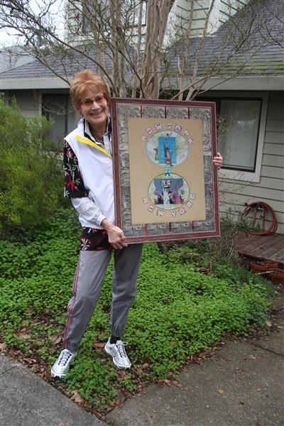 Nancy Worthington with NY NY artwork