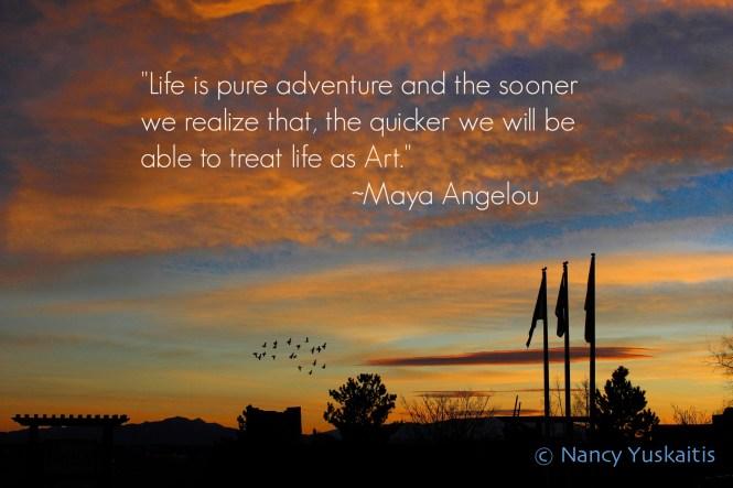 Santa Fe Sunset Quote Maya