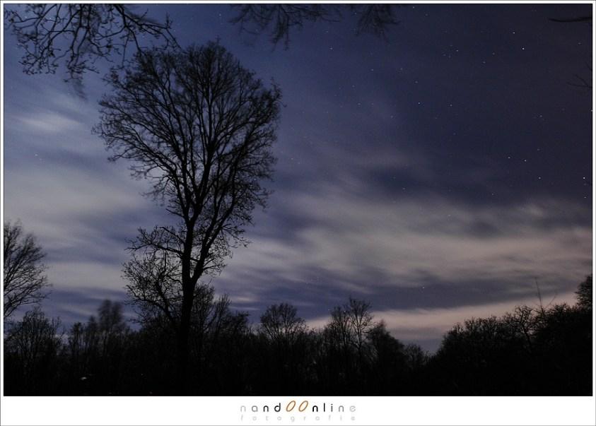 Lange sluitertijden laten wolken tot strepen veranderen