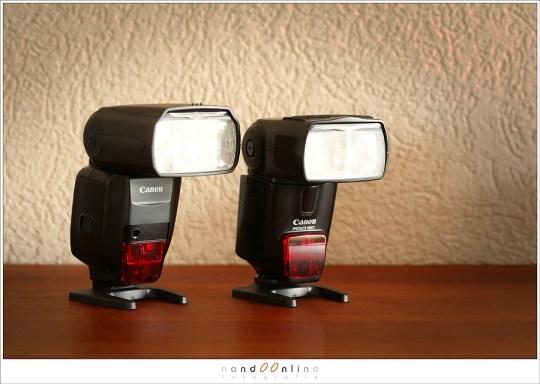 De Speedlight 580EX naast de Speedlite 600EX-RT