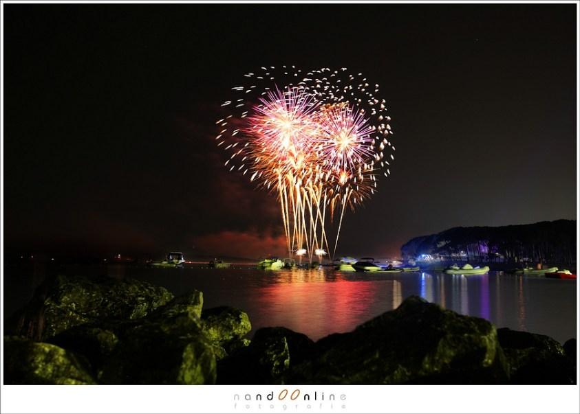 het fotograferen van vuurwerk op grotere afstand