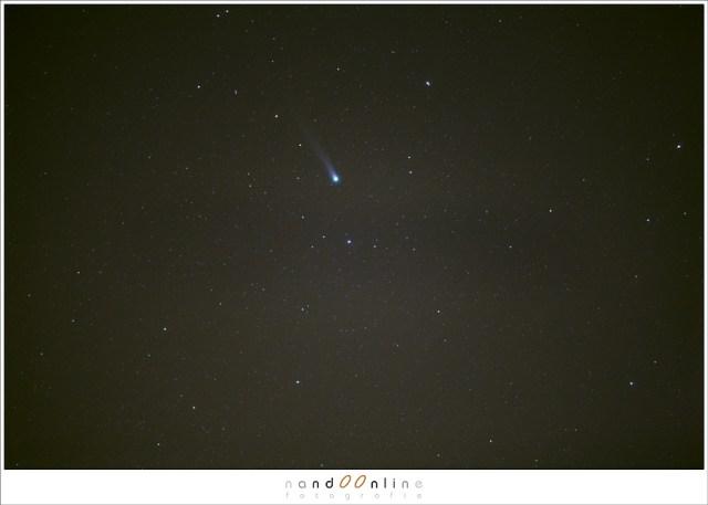 Stack van 131 foto's - Voor dag en dauw op jacht naar komeet Lovejoy