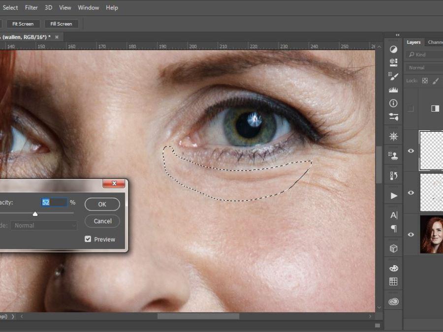 Bewerkingen Photoshop van een model