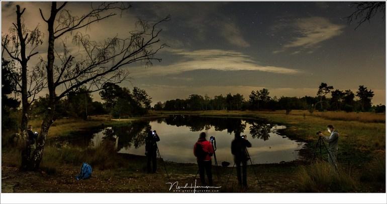 Deelnemers workshop landschappen in het duister