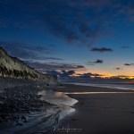 Schemering boven het strand van Cap Blanc Nez