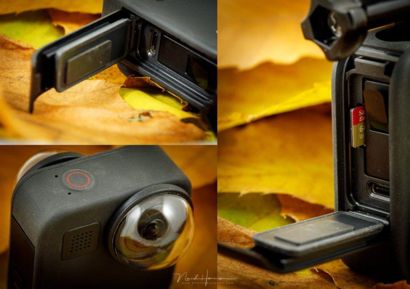 De aansluitmogelijkheden van de GoPro MAX