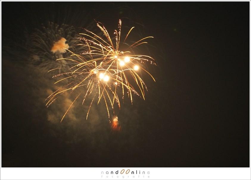 alleen het vuurwerk fotograferen zonder voorgrond
