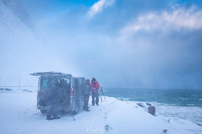 Midden in een sneeuwstorm