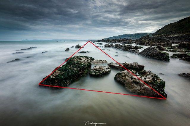 dynamische driehoek compositie
