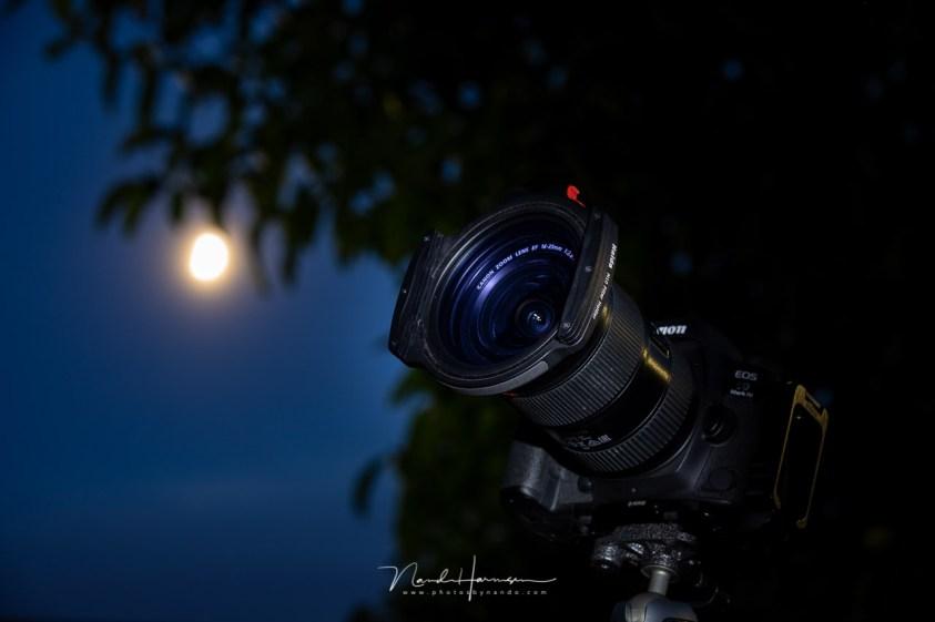 Het Haida M10 Clear Night filter zorgt ervoor dat de geeloranje kleur van kunstlicht vervuiling uit je foto verdwijnt