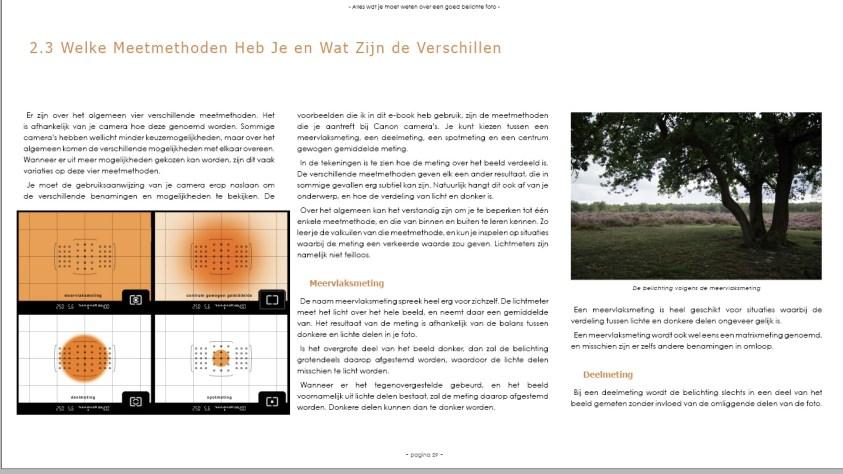 Het e-book Licht Vangen - belichtingmethodes