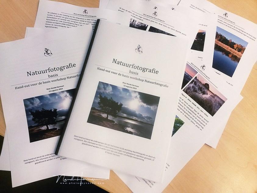 de handout natuurfotografie. Heb jij  het e-book Licht Vangen al?