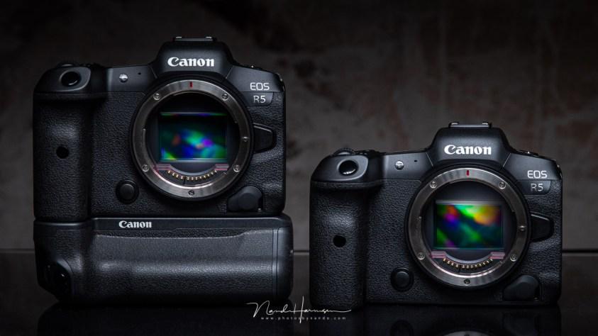 De canon EOS R5 mirrorless camera
