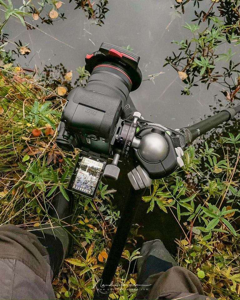 Liveview bij onhandige posities - 9 redenen om liveview te gebruiken bij landschapsfotografie