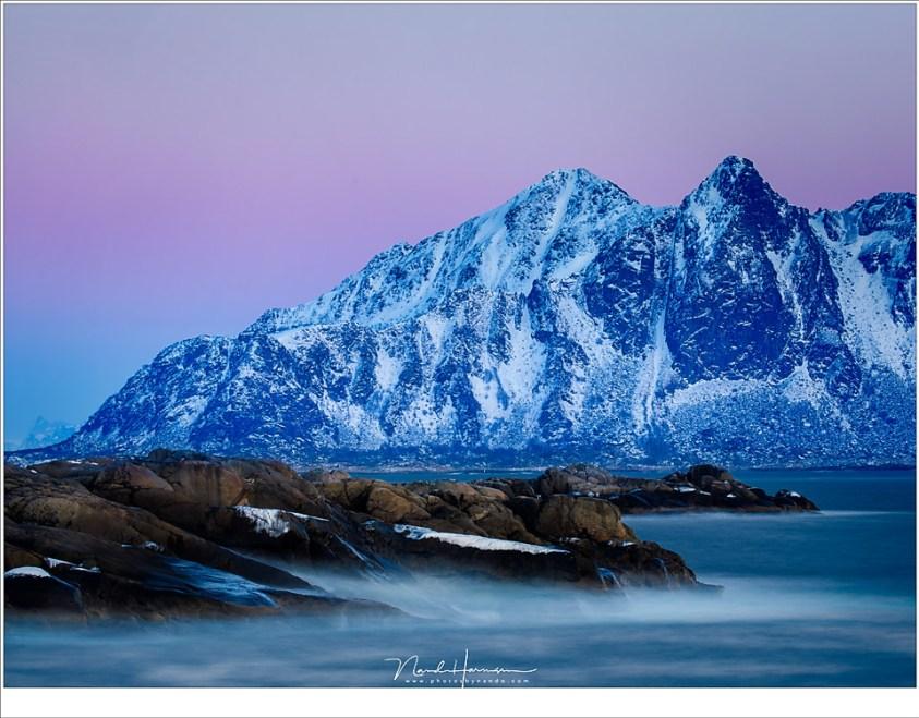 Avondschemering op Lofoten: Grijsverloopfilters of toch geen filters