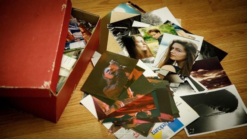De schoenendoos met foto's