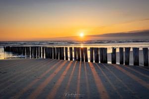 zonsondergang op Sunset Beach